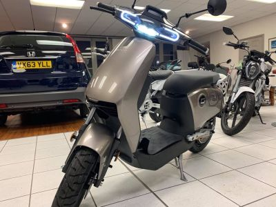 Vmoto Soco CUX Electric Moped - NEW AND UNREGISTERED Moped Electric SilverVmoto Soco CUX Electric Moped - NEW AND UNREGISTERED Moped Electric Silver at Dorchester Collection Dorchester